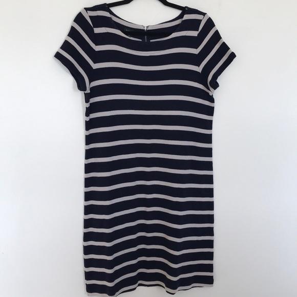 Talbots Dresses & Skirts - TALBOTS 100% cotton striped shirt dress.navy/cream